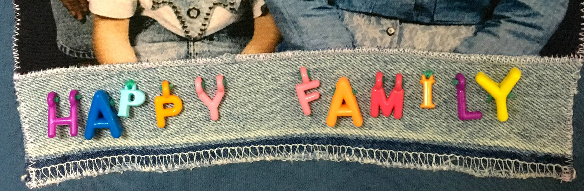 Happy Family Lettering Detail